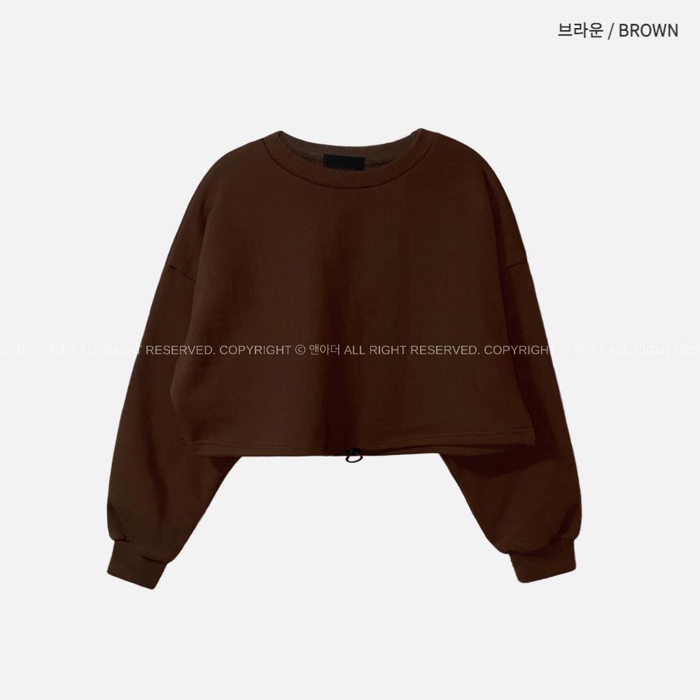 긴팔 티셔츠 브라운 색상 이미지-S2L15